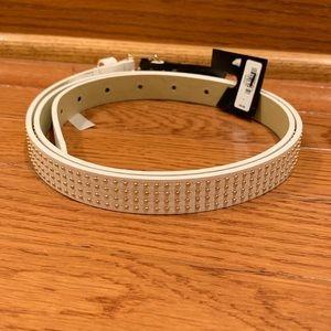 ❄️3 for $30 Express | white Skinny Belt